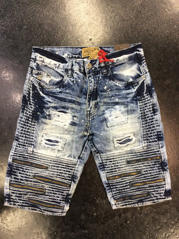 Grindhouse distress biker shorts