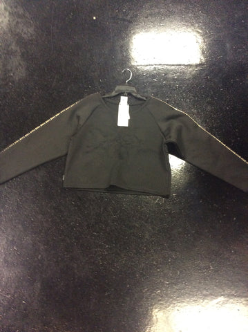 Crooks and Castles Ladies knit L/S cropped top