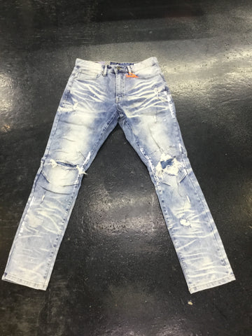 Smoke rise BASIC RIP AND REPAIR JEANS