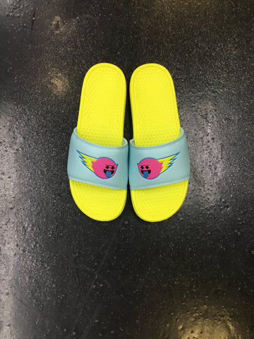 Pink Dolphin Ghost Flare Slides