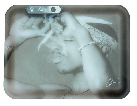 Chi Modu California Love x Glowtray Illuminated Rolling Tray