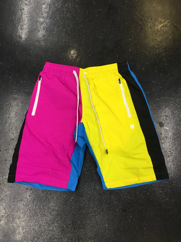 Elbowgrease Colorblock Pink Shorts
