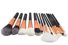 Set of 15 amazing makeup brushes