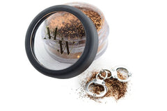 Jar of metallic copper sexy eye gliter