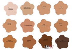 full coverage foundation color swatches