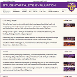 Student-Athlete Evaluation