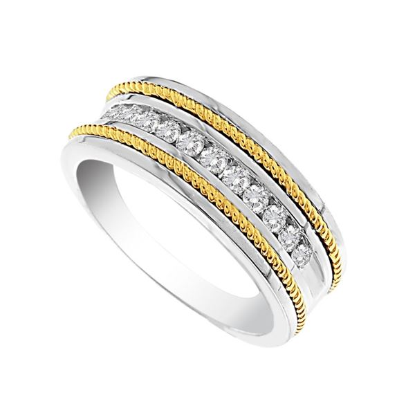 Mens 1/2 CTTW Two Diamond Wedding Band - Crestwood Jewelers