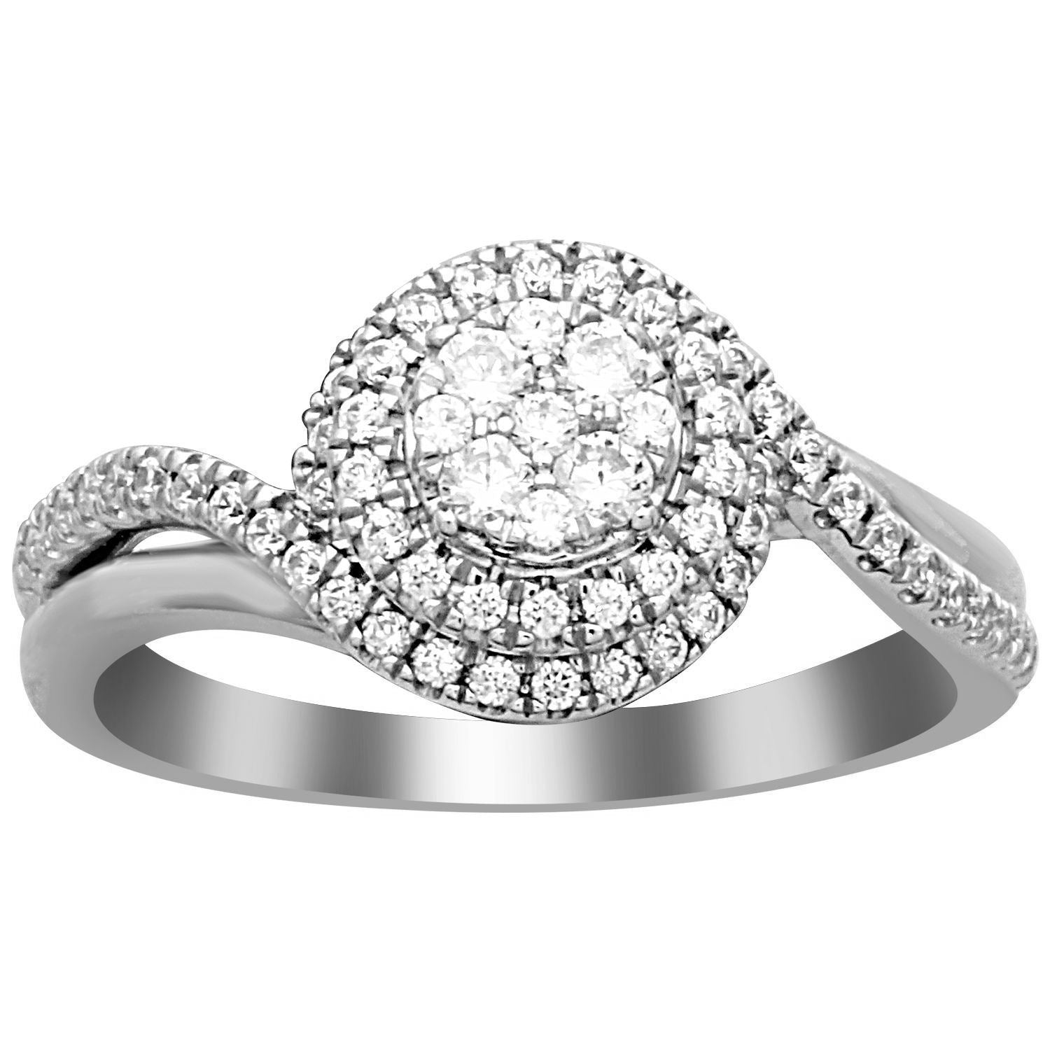 1/2 CTTW Pave Diamond Swirl Ring - Crestwood Jewelers