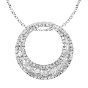 3/4 CTTW Pave Diamond Circle Necklace - Crestwood Jewelers