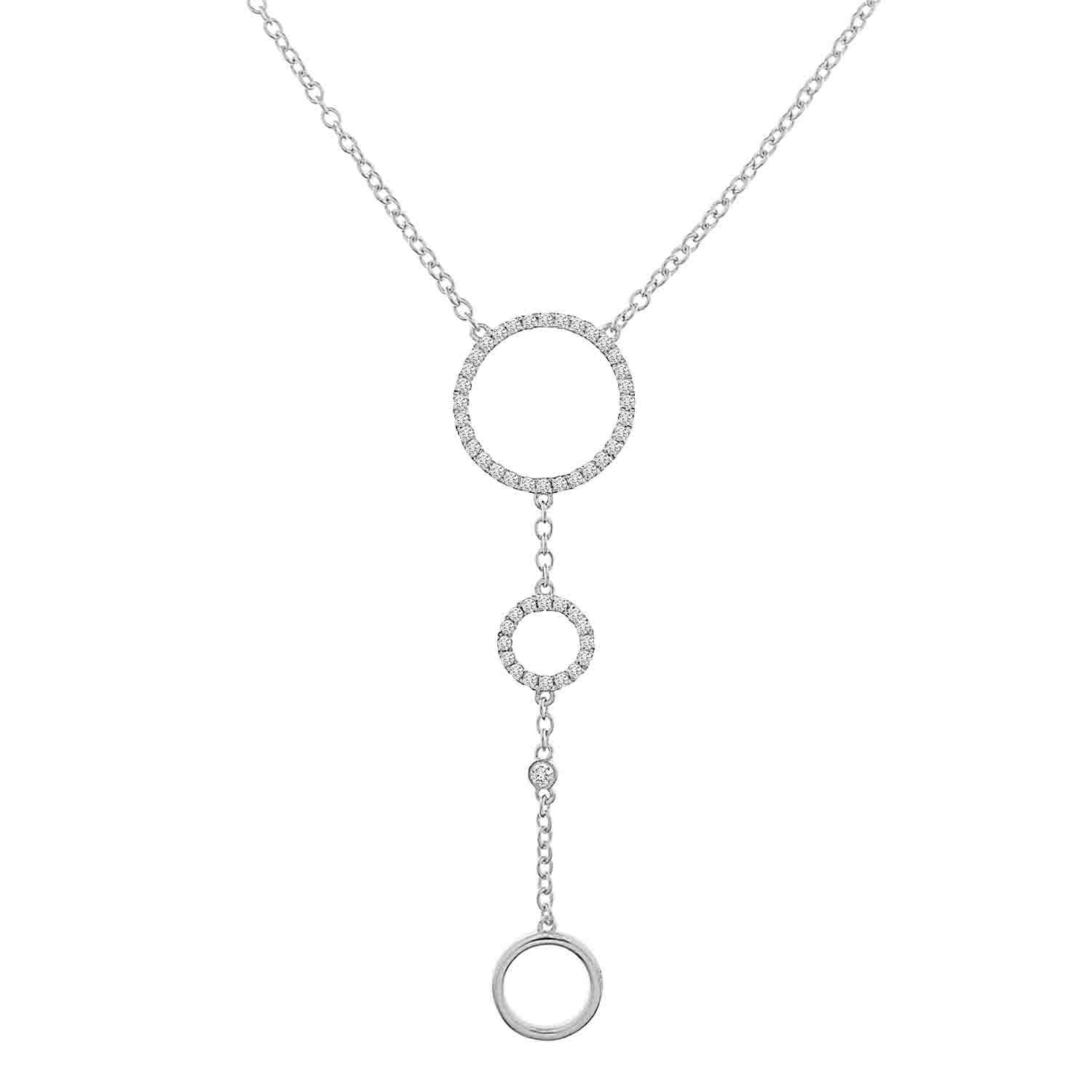 White Gold Diamond Lariat Necklace - Crestwood Jewelers
