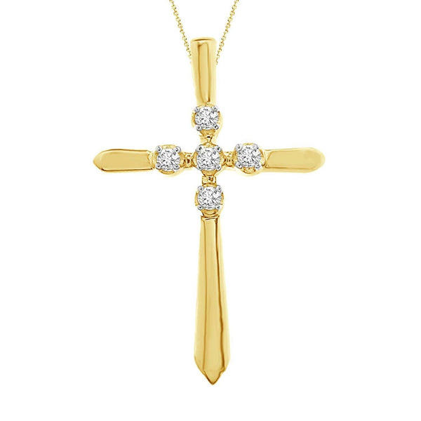 10K Gold Diamond Cross - Crestwood Jewelers