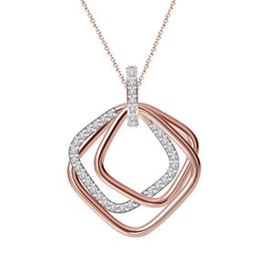 10K Rose Gold Diamond Pendant