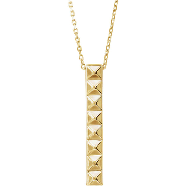 14K Pyramid Bar Necklace - Crestwood Jewelers
