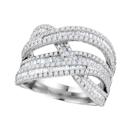 White Gold Baguette Diamond Ring - Crestwood Jewelers