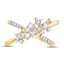 14K Yellow Gold 3/8 CTTW Diamond Star Ring
