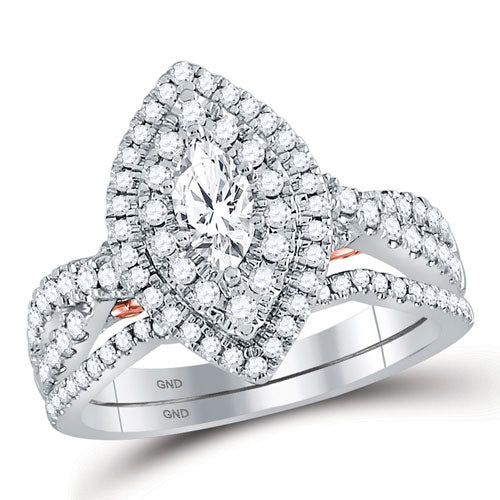 1.00CTTW Marquise Diamond Enagement Ring - Crestwood Jewelers