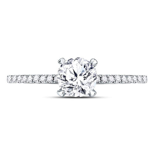 1.00 CTTW Diamond Engagement Ring 3/4 CT Center Round
