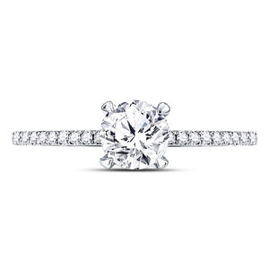 1.00 CTTW Diamond Engagement Ring 3/4 CT Center Round - Crestwood Jewelers