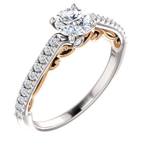 Scoll Diamond Engagement Ring - Crestwood Jewelers