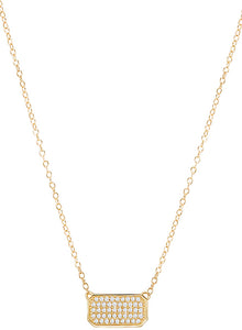 Tesoro 14K Pave Diamond Necklace - Crestwood Jewelers