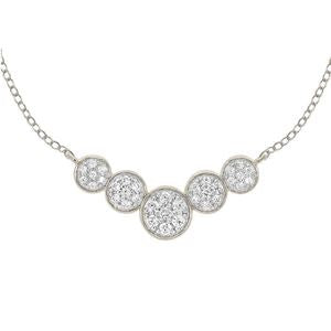 0.33 CTTW 10KT WHITE GOLD PAVE DIAMOND NECKLACE