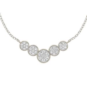 0.33 CTTW 10KT WHITE GOLD PAVE DIAMOND NECKLACE - Crestwood Jewelers