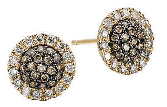 Tesoro Designer Champagne Diamond Earrings