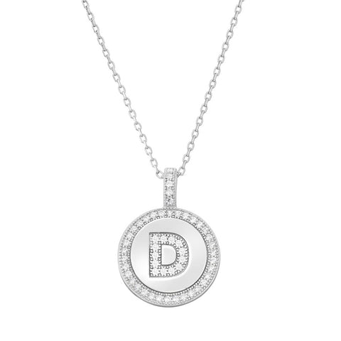 Sterling Silver Initial Necklace - Crestwood Jewelers