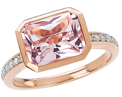 14K Pink Amethyst & Diamond Ring - Crestwood Jewelers