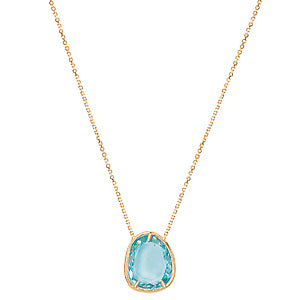 14K Tesoro Blue Topaz Adjustable Necklace - Crestwood Jewelers