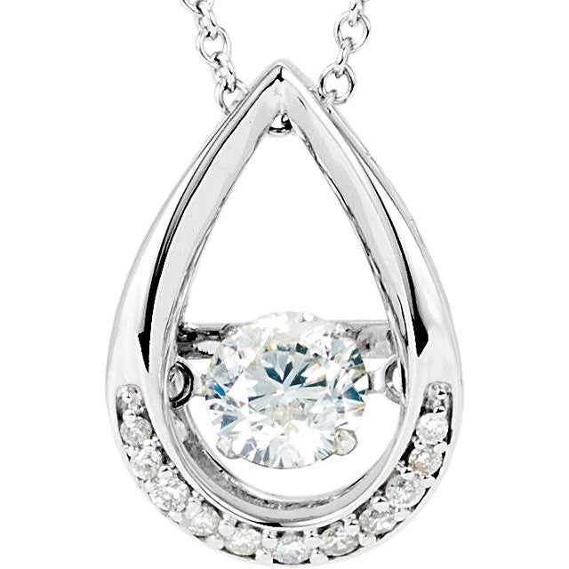 14K White 1/8 ct tw Diamond 18