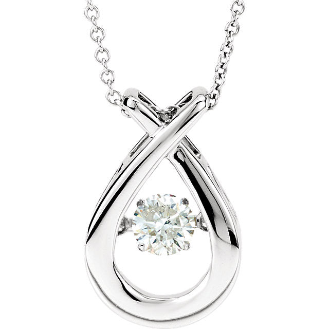 14K White 3/8 CT Diamonds in Motion 18