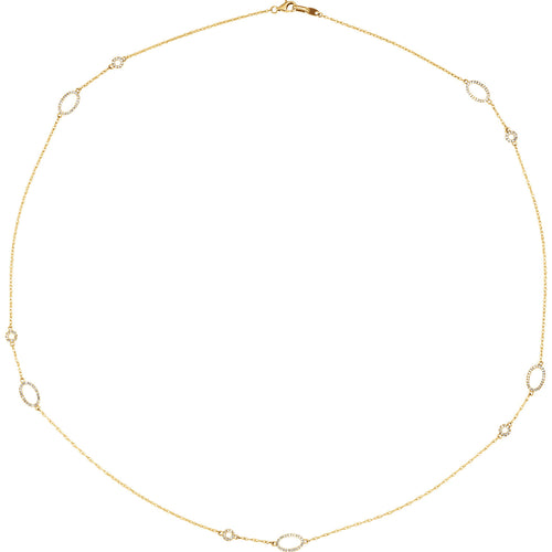 "14K 1/2 CTW Diamond 24"" Necklace - Crestwood Jewelers"