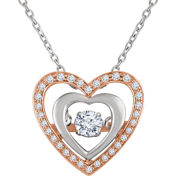 "Diamond Heart 18"" Mystara® Necklace - Crestwood Jewelers"