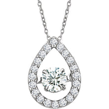 "Diamond 16-18"" Mystara® Halo Necklace - Crestwood Jewelers"