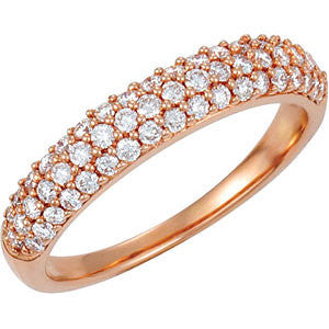 14K 1/2 CTW Diamond Pavé Anniversary Band