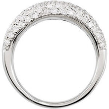 14K White 1 1/5 CTW Diamond Pavé Ring