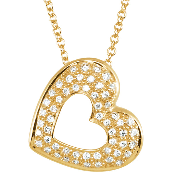 1/4ct. Diamond Pave Heart Necklace - Crestwood Jewelers