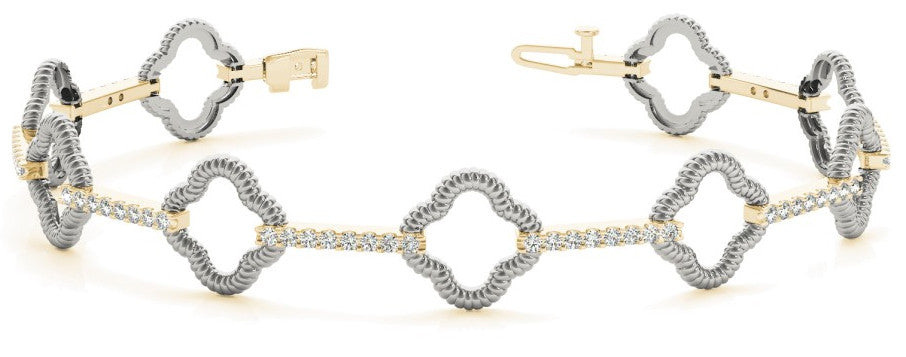 14K Diamond Fashion Bracelet