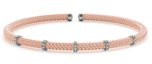 Woven Diamond Bangle Bracelet - Crestwood Jewelers