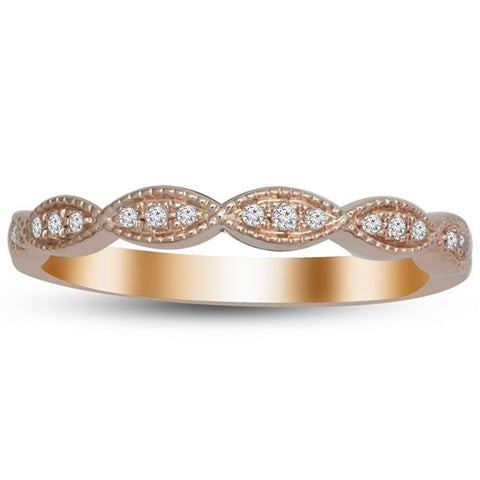 14K Diamond Stackable Ring - Crestwood Jewelers