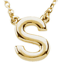 14K Gold Block Initial Necklace - Crestwood Jewelers