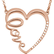 "1/6 CTW Diamond ""Love"" Heart Infinity-Inspired 18"" Necklace - Crestwood Jewelers"