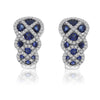 14K White Gold Sapphire Diamond Earrings - Crestwood Jewelers
