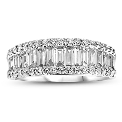 1.50ctw Fashion Diamond Wedding Band in 18k WG