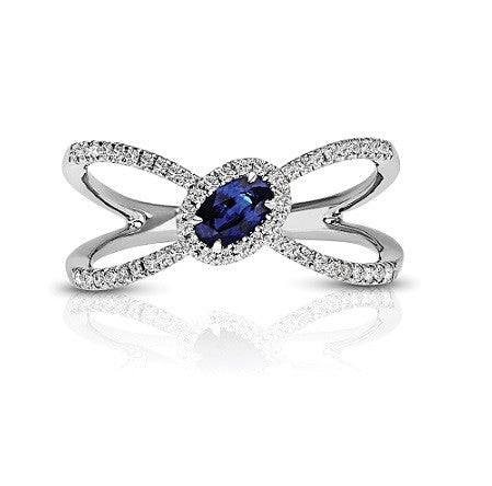 Couture Diamond & Sapphire Ring - Crestwood Jewelers