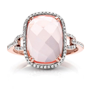 Couture Pink Quartz & Diamond Ring - Crestwood Jewelers