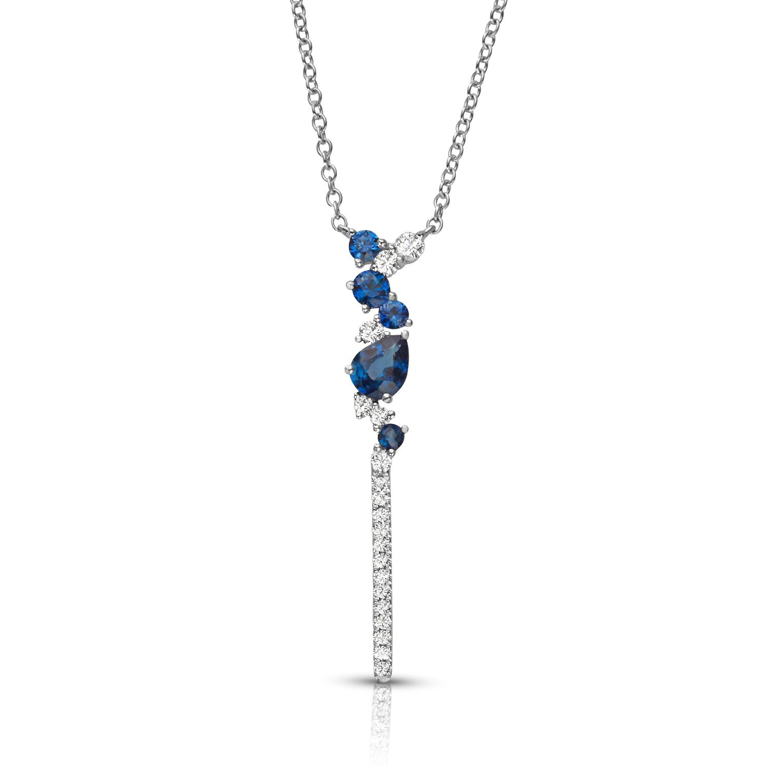 14K Couture Diamond & Sapphire Necklace - Crestwood Jewelers