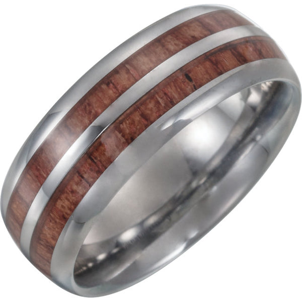 Tungsten Band with Wood Inlay - Crestwood Jewelers