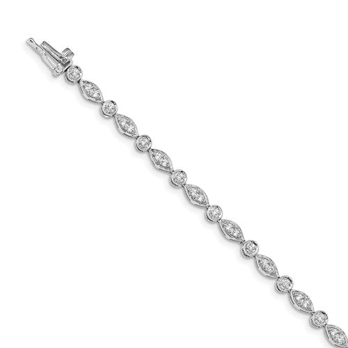 14k White Gold Diamond Bracelet - Crestwood Jewelers